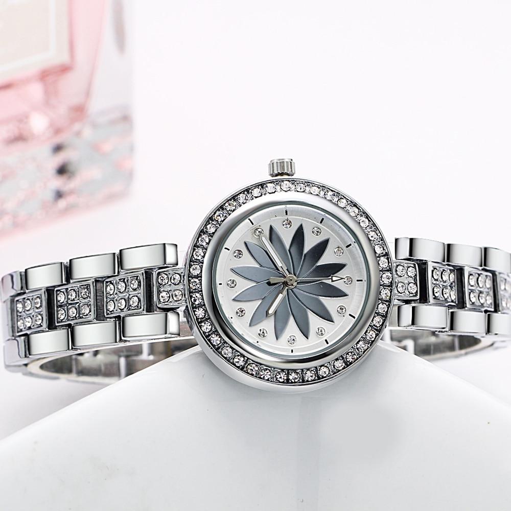 New arrival Elegant Wrist Watches for Women Luxury Quartz Crystal Dial Alloy Bracelet Wholesale price free drop shipping 2