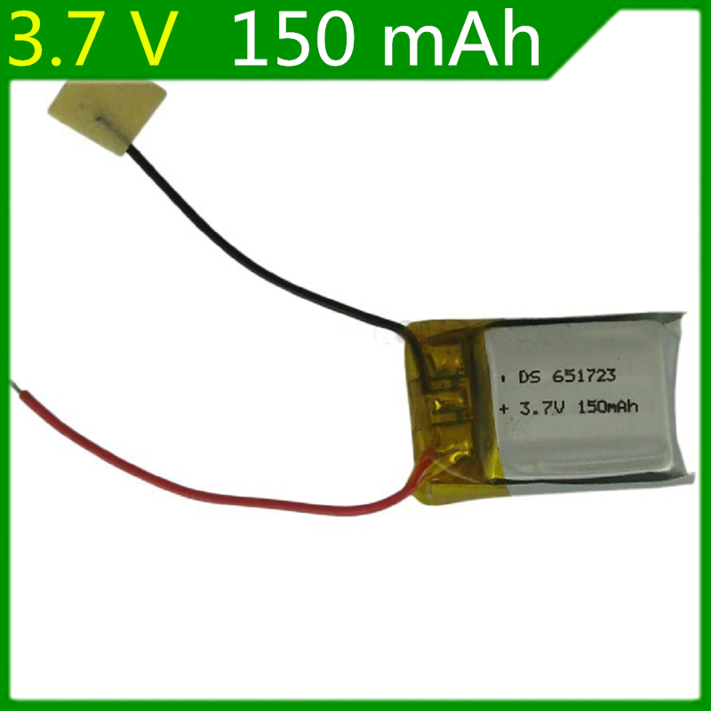 2 piezas 3,7 V 150mAH 15C 651723 control remoto avión control remoto helicóptero descarga 3,7 v baterías Lipo con tablero de protección