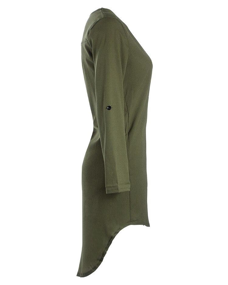 Short Summer Fashion Beach Dress - Long Sleeve Women Casual Dress 5
