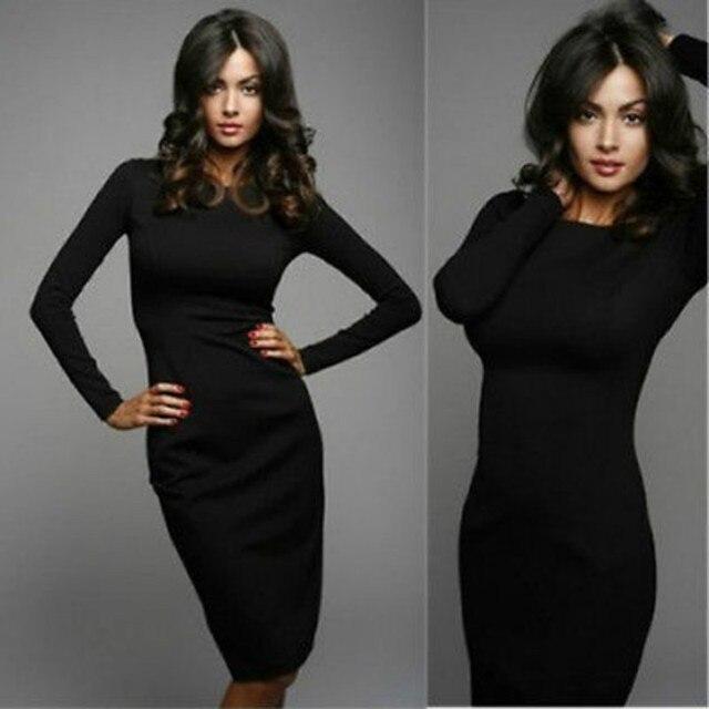 stretch jurk zwart