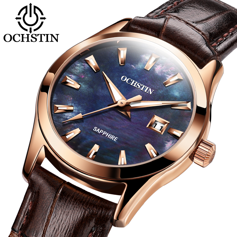 OCHSTIN Quartz leather Wristwatches relogio feminino Top Brand Luxury Ladies Watch Quartz Classic Casual Analog Watches Women