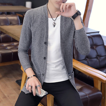 MOTUWETHFR Casual Cardigan Men Long Sleeve All Match Knitted Sweaters Dress Slim Fit