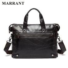 MARRANT Business Men Bags Genuine Leather Men Laptop Bag Briefcase Famous Brand Men Crossbody Handbag Casual Men's Shoulder Bag