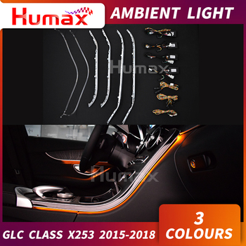 LED ambient lamp For Mercedes GLC class X253 GLC200 GLC250 GLC300 door panel atmosphere center console interior car tuning