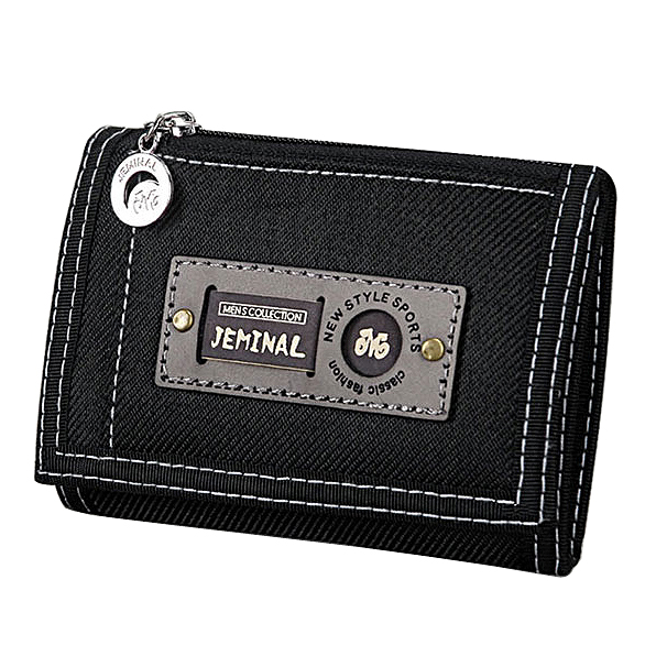 Men Wallets Hasp Zipper Canvas Male Purses Short Wallet Good Qaulity Cards ID Holder Money Bags Clutch Coin Purse Burse Pocket