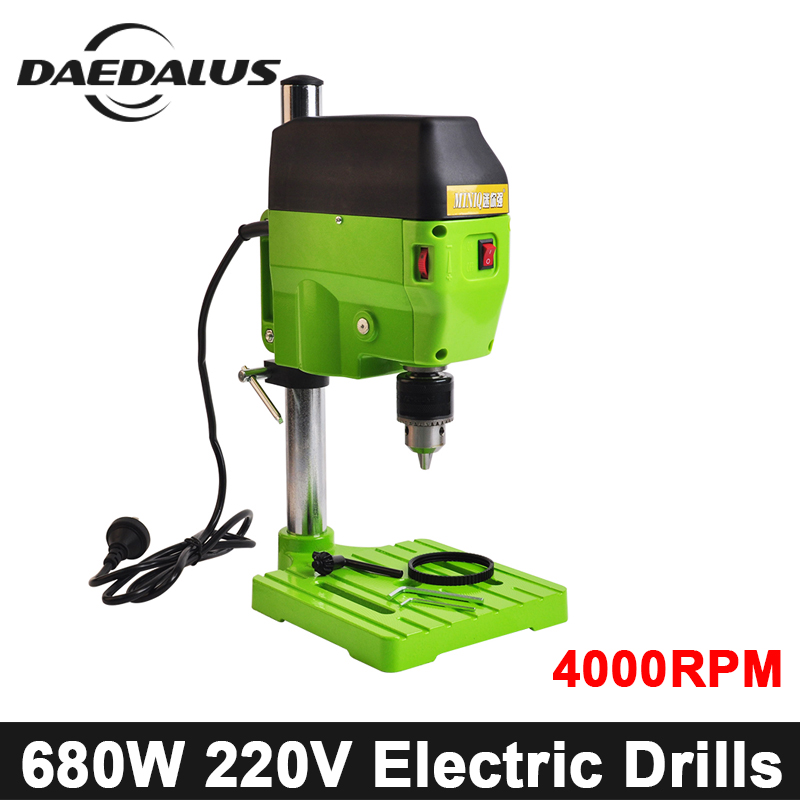 BG-5166E Electric Drills 680W 220V Mini Drilling Machine 4000RPM Bench Drill CNC Milling Engraving For DIY Wood Metal Electric huppa манишка вязаная cora темно синяя