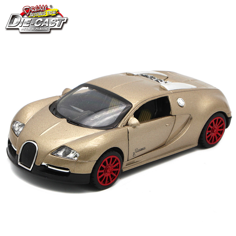 1/32 Scale Diecast Sport Car, Kids Toys, 14cm Metal Model Car For Boys With Functions