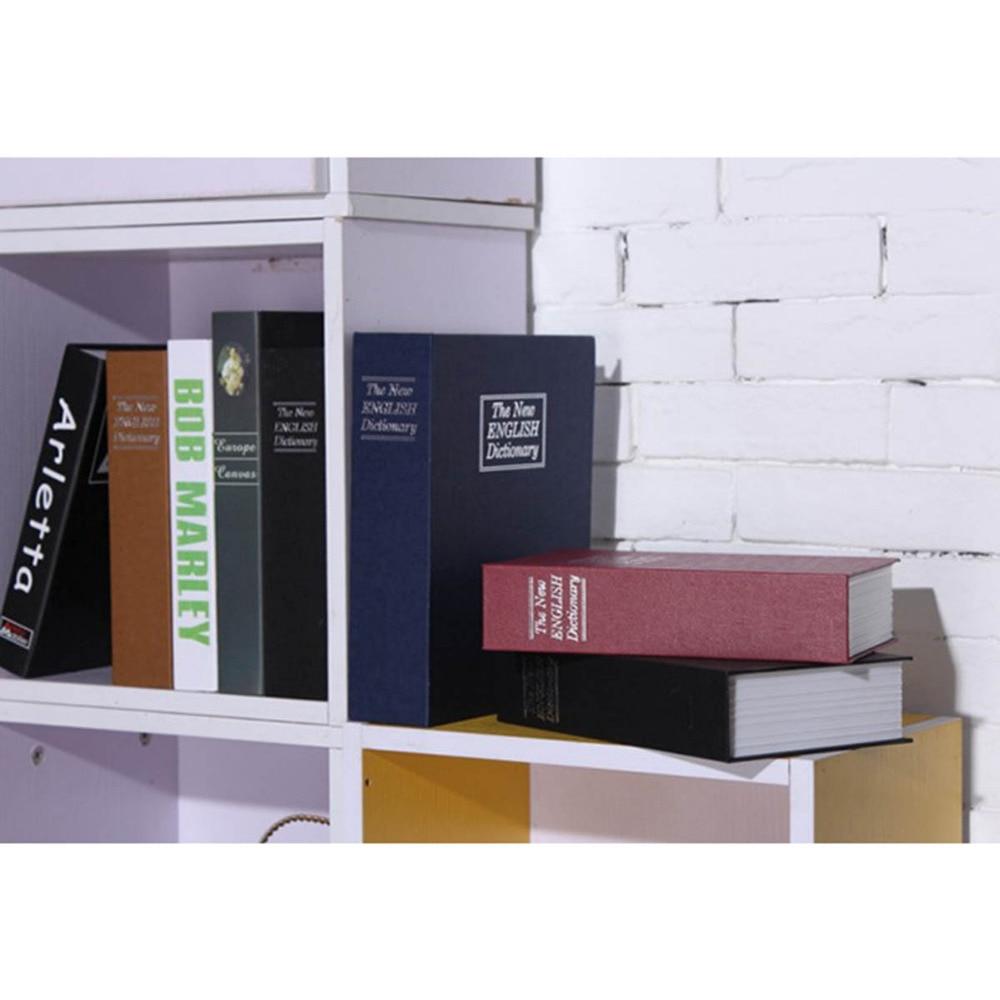 Купить с кэшбэком Security Simulation Dictionary Book Hidden Safes Case Home Cash Money Jewelry Locker Secret Safe Storage Box with Key Lockers