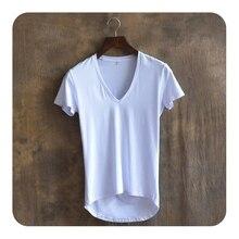 Front Short Back Long ArcHem Tshirt Men Brand Clothing Hip Hop T shirt Men T Shirt