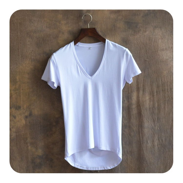 Front Short Back Long ArcHem Tshirt font b Men b font Brand Clothing Hip Hop T