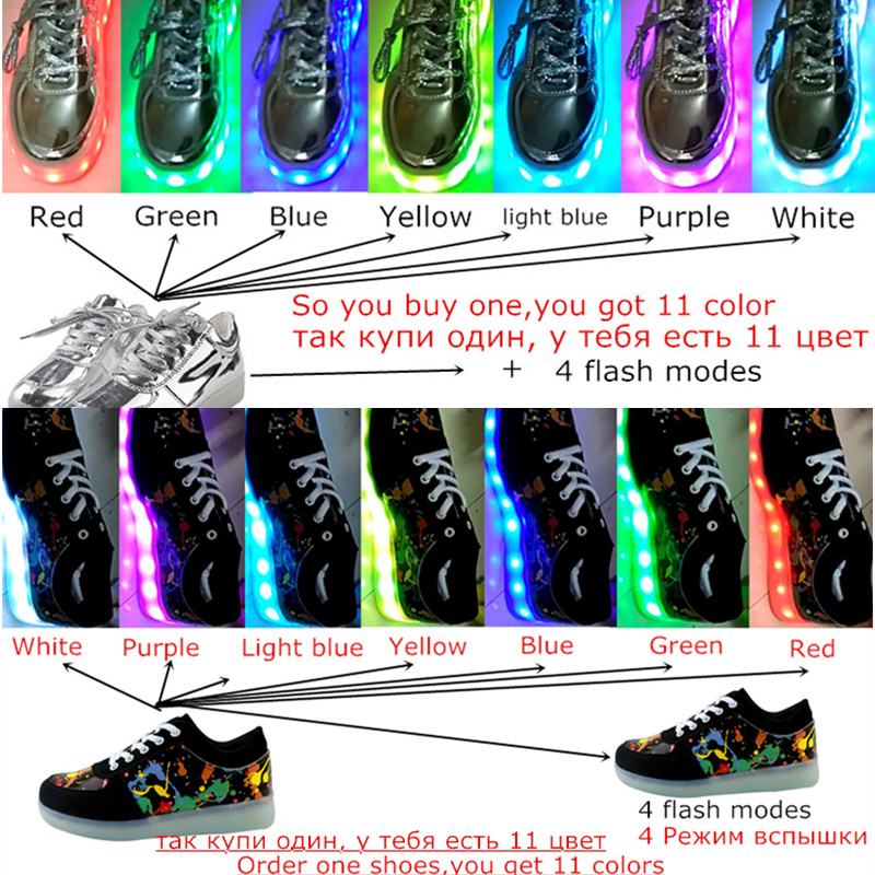 2019 LED shoes 11 Colors chaussures Unisex usb Charging Led Lights shoes Emitting Luminous Men couple sport dance Casual Shoes in Women 39 s Vulcanize Shoes from Shoes