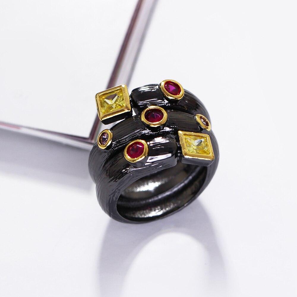 Գերժամանակակից սև օղակներ AAA - Նորաձև զարդեր - Լուսանկար 4