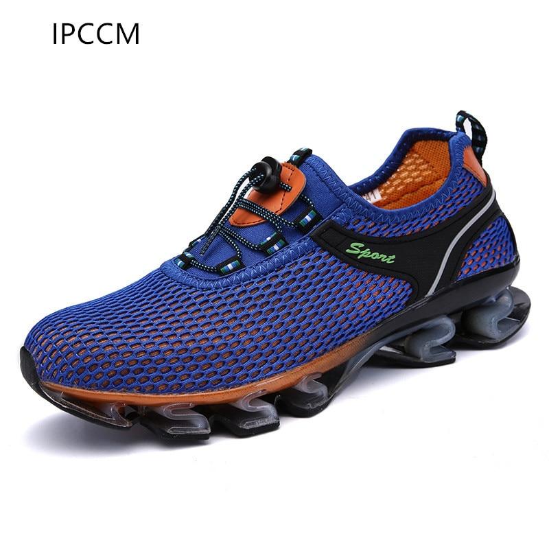 gray Extérieure Blue Hommes Marque Stretch Chaussures Mode Casual Nouveau fonction Fiber dark Ipccm Multi Blue Printemps Respirant 2018 Maille De Automne Et xSYx1AqF