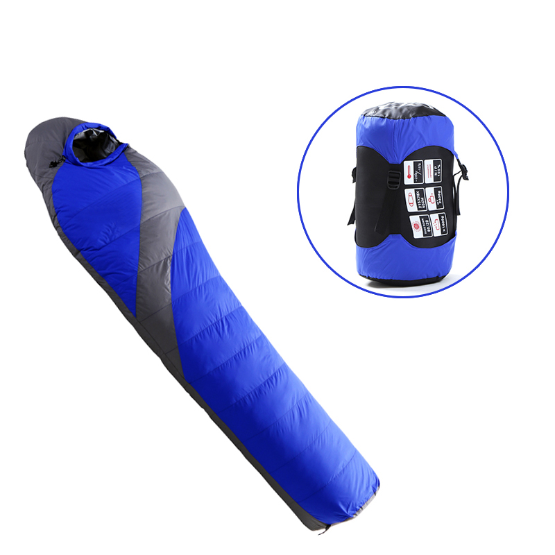 Outdoor Adult Warm Down Sleeping Bag For Winter Camping Tent Waterproof Nylon Survival Sleeping Bag Camping Tourism Supplies 1