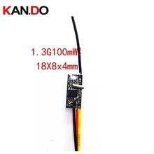 Мини Размер 200 мВт 1,3G беспроводной FPV передатчик, 1,3G батут, DIY Беспроводная камера 1,3G передающая форма беспилотный передатчик