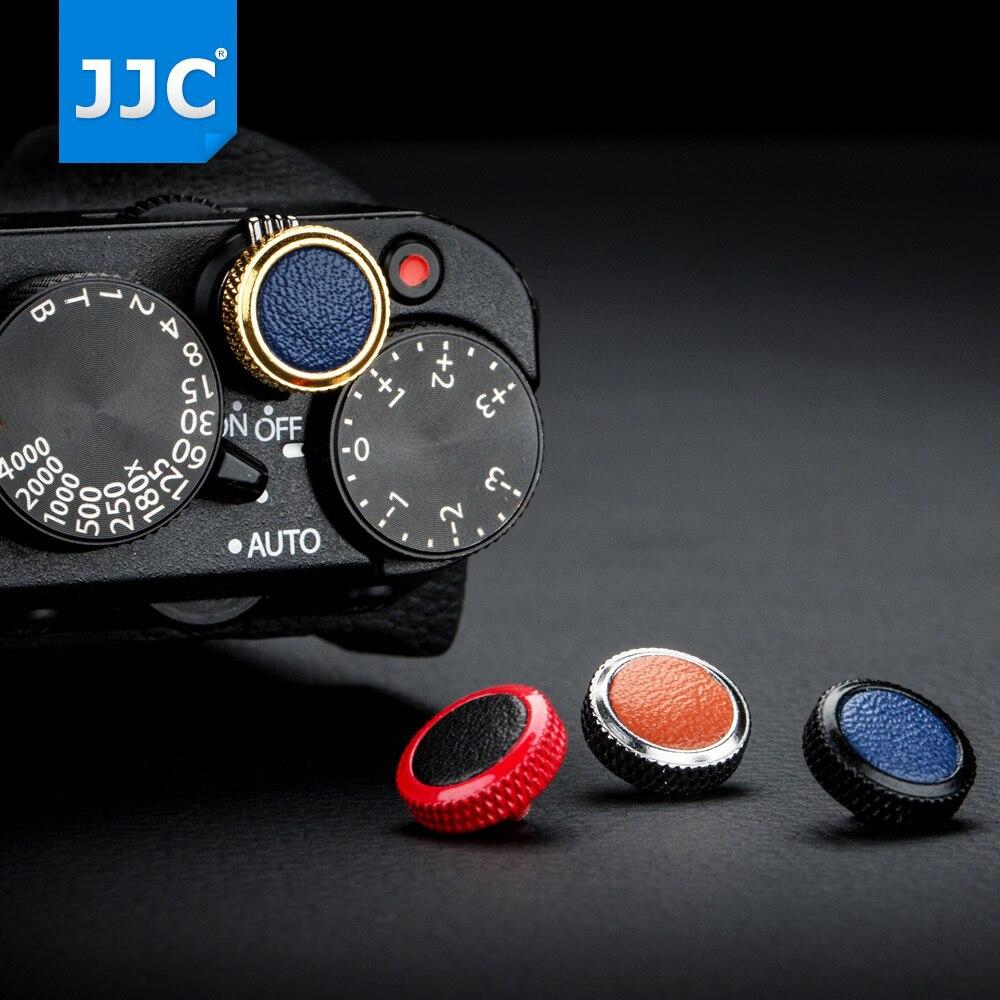 JJC Deluxe obturador de la Cámara de botón de Metal para Sony RX1R RX10 IV Leica M10 M-E M-P Fujifilm X-T20 X-100 X-T3 x-T2 X-PRO1 etc.