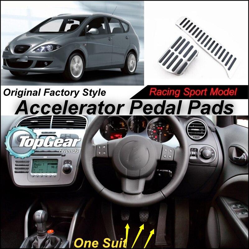 Litanglee Car Accelerator Pedal Pad / Cover of Original Factory Sport Racing Model Design For SEAT Altea 2004~onwork Tuning