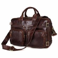 2017 Luxury Real Genuine Leather Men Bags Business Laptop Briefcase Tote Bag Multi-fuction Handbags Men's Travel Shoulder Bag