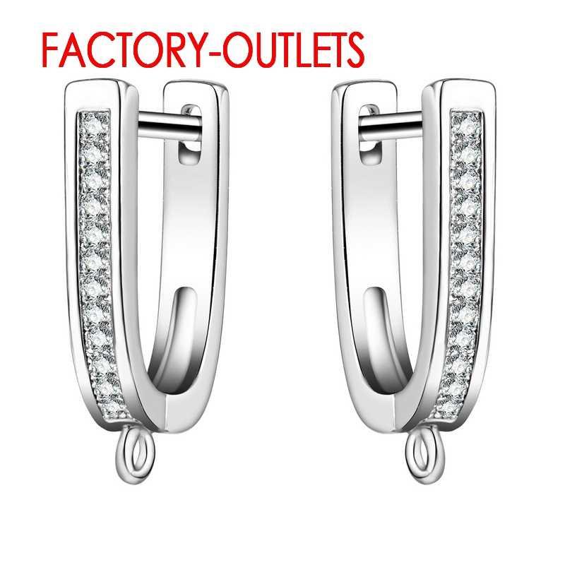 Livraison rapide nouveau 925 bijoux en argent Sterling raccords femmes boucles d'oreilles de mariage avec cristal autrichien Micro incrustation Top vente