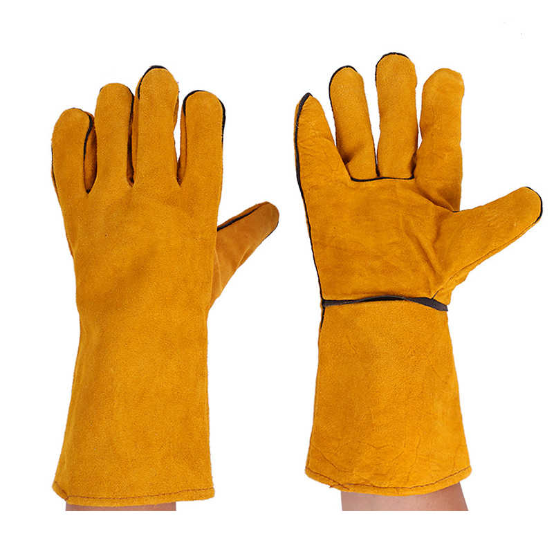 Leather Welding Gloves For Tig Welders Mig Fireplace Stove BBQ Gardening Welding Mask DIY Wood Working Welder's Gloves