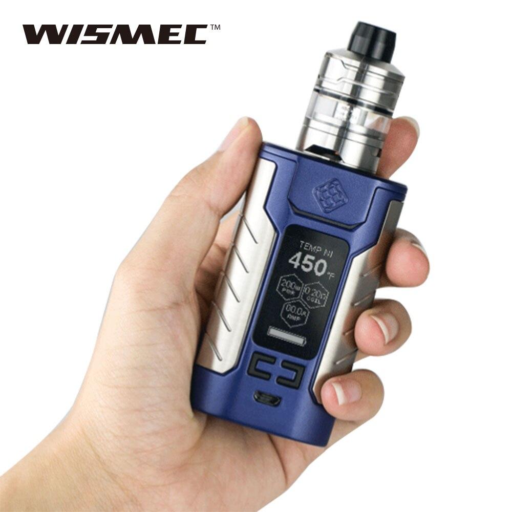 Freiheit 200 W WISMEC SINUOUS FJ200 TC Kit w/2 ml/4 ml Teiler Zerstäuber Eingebaute 4600 mAh batterie & Max Ausgang 200 W E-zigarette Kit