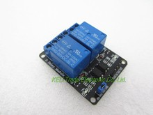 40pcs/lot 2-channel New 2 channel relay module relay expansion board 5V low level triggered 2-way relay module for arduino