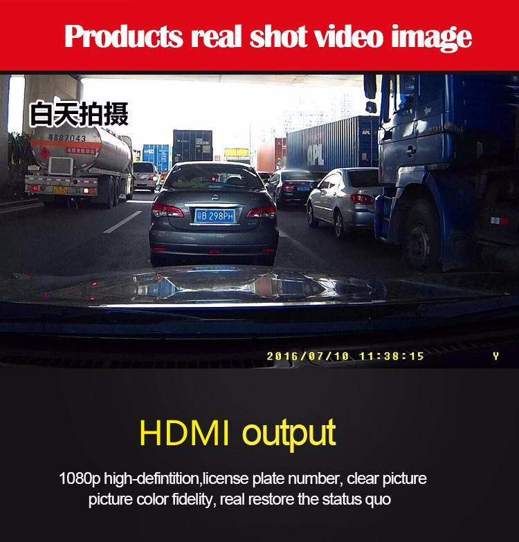 FHD 1080P car camera 4.3-inch Mirror Rearview screen dual lens Car DVR Night Vision rearview mirror auto dvrs Stop Recording 14