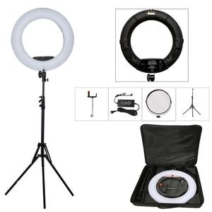 """Image 1 - Yidoblo 96 ワットFD 480II 18 """"スタジオ調光対応ledリングランプセット 480 ledビデオライトランプ写真照明 + スタンド (2 メートル) + バッグ"""