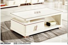 MC2001A Modern living room furniture glass top white tea table coffee table simple clear style coffee table(China)