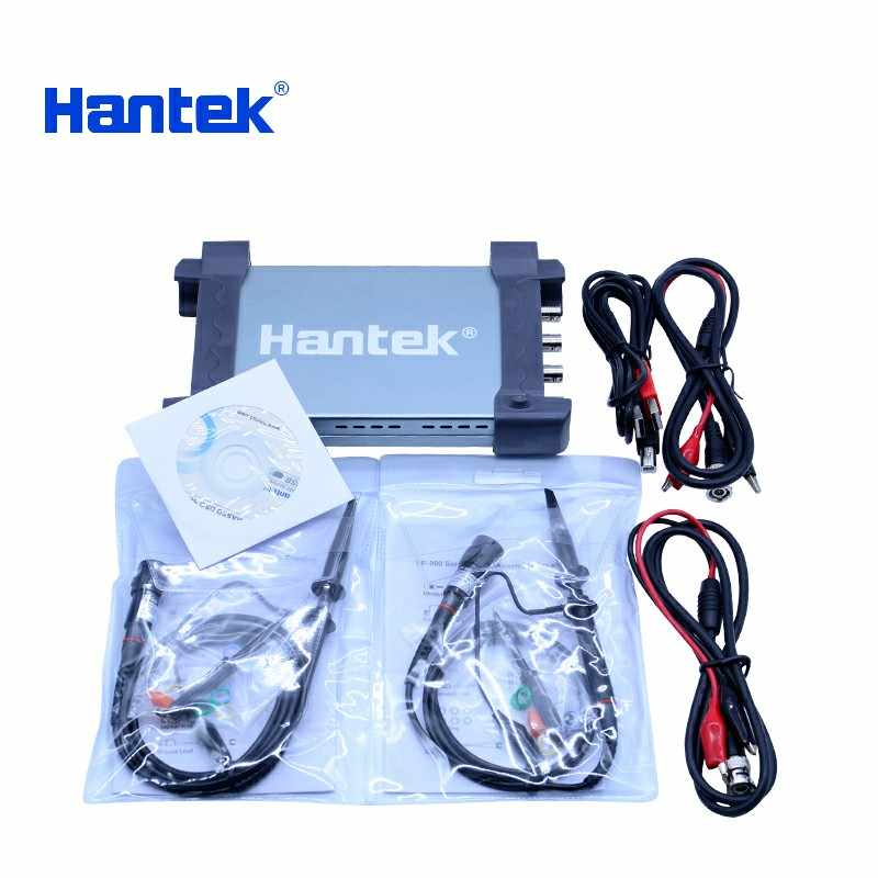 Hantek USB مجموعة راسم الذبذبات 4CH قنوات تناظرية 1GSa/s 70MHz 100MHz 200MHz 250MHz PC راسم الذبذبات دعم Winows 7 8 10