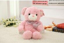 new cute plush pink teddy bear lovely heart teddy bear doll gift about 60cm