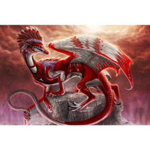 5d diy Diamond PaintingRed dragonFull,square Embroidery,handmade Drill Mosaic,art,Crafts Y2367
