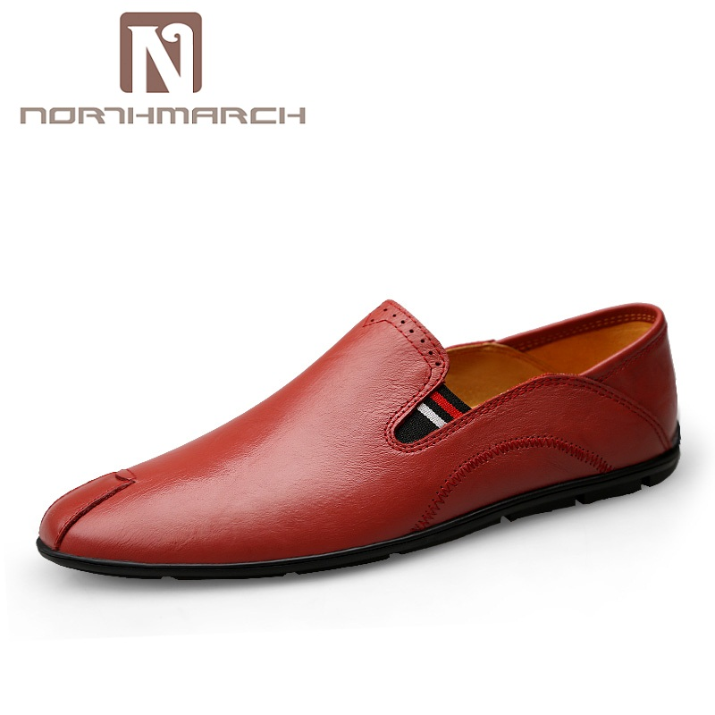 NORTHMARCH New Arrivals Genuine Leather Shoes Men Casual Moccasins Mens Slip-On Loafers Breathable Driving Shoes Men SchoenenNORTHMARCH New Arrivals Genuine Leather Shoes Men Casual Moccasins Mens Slip-On Loafers Breathable Driving Shoes Men Schoenen