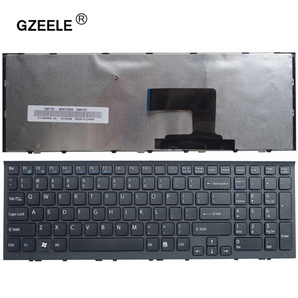 GZEELE Nuova Tastiera Del Computer Portatile per Sony VPC-EH VPCEH serie Telaio nero US Version 148970811 AEHK1U00010 V116646E PCG-71811L Inglese
