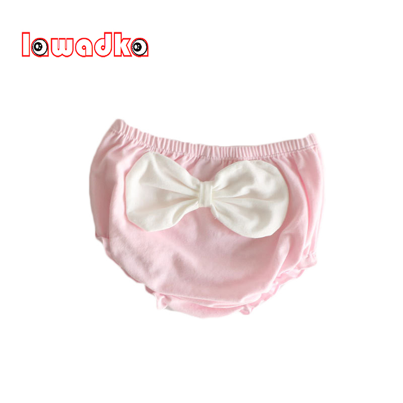 Cotton Baby Girl   Shorts   Big Bow Baby Girl Ruffle Bloomer Baby Diaper Cover Newborn   Shorts   Seersucker Summer Baby Girl Clothes