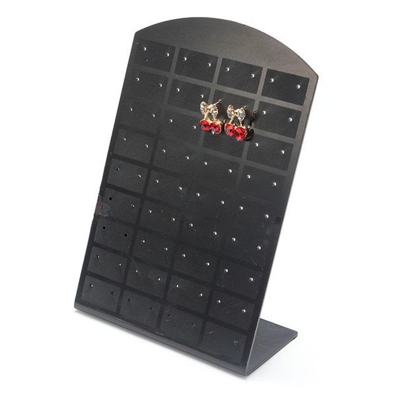 36 pair 72 Holes/set Black Plastic Jewelry Holder Organizer Ear Studs Display Stand Showcase Jewelry Display Rack For Women#4681
