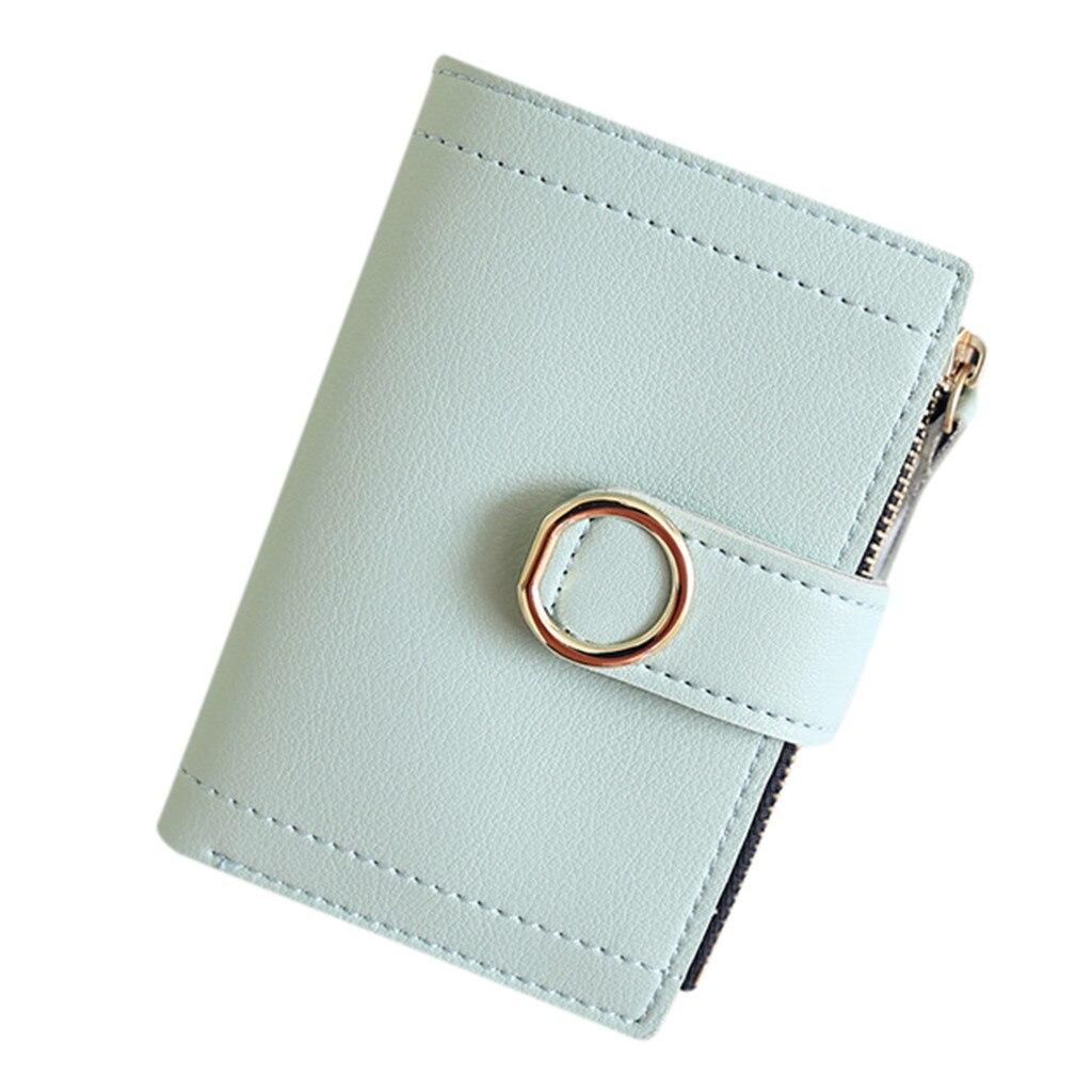 Femmes monnaie pochette petits sacs pour femmes dames mode solide Simple Kawaii support sacs carte de crédit clé et argent petit portefeuille Mini