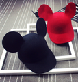 newest Wool felt lovely cute baby girl Mouse hat parent-child high quality horseman hat big ear Children's cute mickey cap