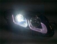 Nadające się do HONDA CIVIC 2012 montaż reflektorów z U soczewki reflektorów reflektory ksenonowe w Kratki wyścigowe od Samochody i motocykle na