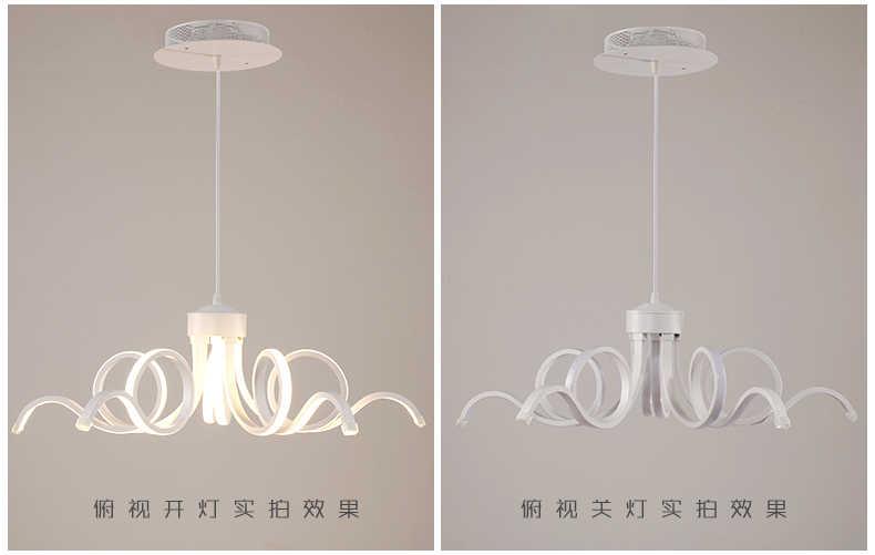 Новый дизайн D65cm современные люстры для гостиной столовой акриловый алюминиевый корпус светодиодное потолочное освещение лампы светильники