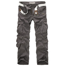 New Hot Men s Casual Army Cargo Camo Combat Style Pants Overall Loose Multi Pocket Trend