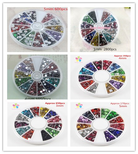 Multi option 2mm 3mm 4mm 5mm Mix Color Rhinestone Decoration and Nail Art  007006002 30df76a9b8ae