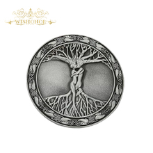 Wishonor Pewter Finish Tree Of Life Belt Buckle, Mens Belt Buckle For 4cm Wide Belt Buckle Men Jeans accessories