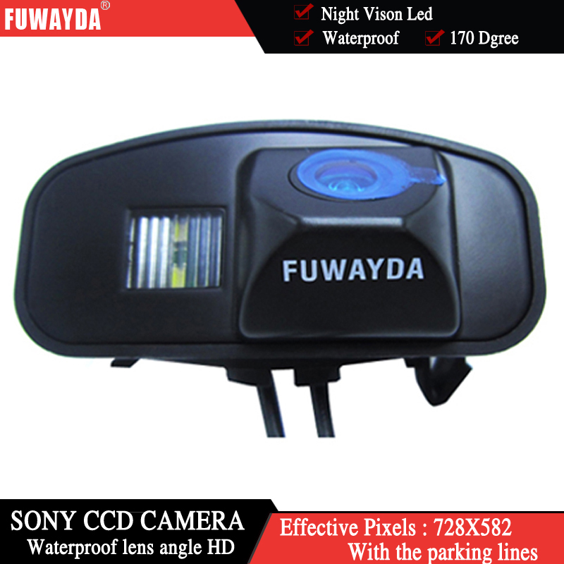 FUWAYDA SONY CCD Car RearView Mirror Image With Guide Line Navigation Kits CAMERA For Honda CRV CR-V Odyssey Fit Jazz Elysion