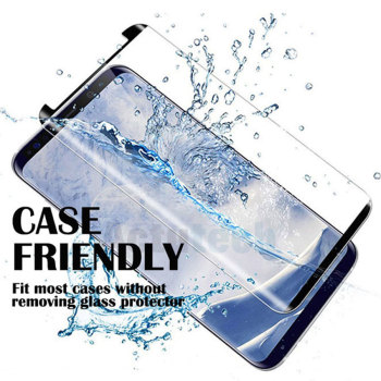 3D Case Friendly Curved Not Full Cover Tempered Glass For Samsung Galaxy Note 9 S9 S8 Plus S7 Edge Screen Protector image