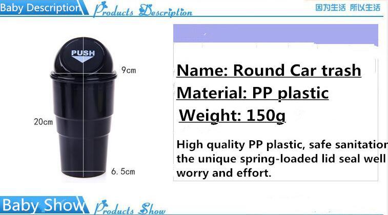 environmental protection. fashion. car mini garbage bin. for Cadillac ATS-L XTS CT6 Plug-in XT5 ESCALADE ticker accessories