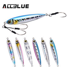 ALLBLUE New SLOWER SLIM Metal Slow Jig Cast Spoon 10G 15G Artificial Bait Shore Fishing Jigging Lead Metal Bass Fishing Lure(China)