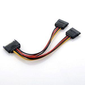 Image 2 - 고품질 분배기 케이블 SATA 전원 15 핀 Y 분배기 케이블 어댑터 남성 HDD 하드 드라이브 뜨거운 여성
