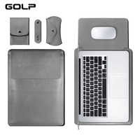 GOLP cuero Universal caja de la manga bolso suave para for Macbook Air Pro Retina 11 12 13 15 para portátil cubierta para for Macbook air 13,3 pulgadas