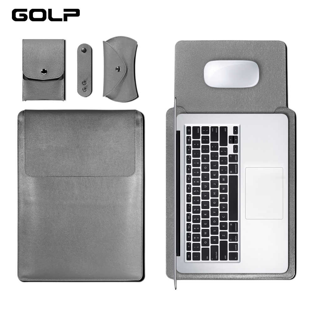 GOLP universel en cuir PU à manches souples sac étui pour Macbook Air Pro Retina 11 12 13 15 pour housse d'ordinateur portable pour Macbook air 13.3 pouces